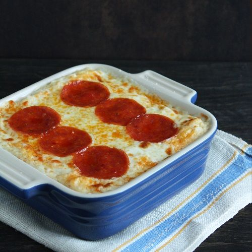 ... pizza cauliflower casserole low carb and gluten free pepperoni pizza