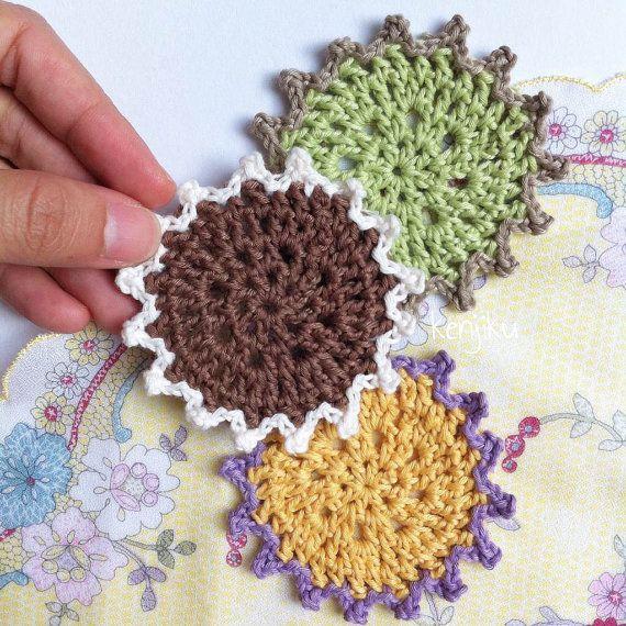 Mandala Coaster Crochet Pattern  DIY by KenjikuMade on Etsy