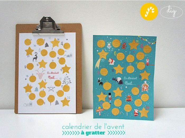 DIY : Un calendrier de l'Avent à gratter ! #christmas #advent calendar #Noël scratch
