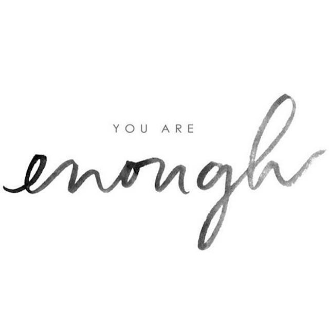 A gentle reminder... • • One of the things I honestly struggle with the most...how much is enough? Degrees, career moves, accomplishments, assets, time spent, activities...Have I done enough? Have I achieved enough? Am I good enough? Am I fit enough? Am I brave enough? But most of all...am I happy enough? • • But with peace found in my Creator...it is all enough and I am indeed enough AND SO ARE YOU!