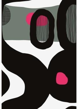 Mustekala fabric designed by Jenni Tuominen for Marimekko