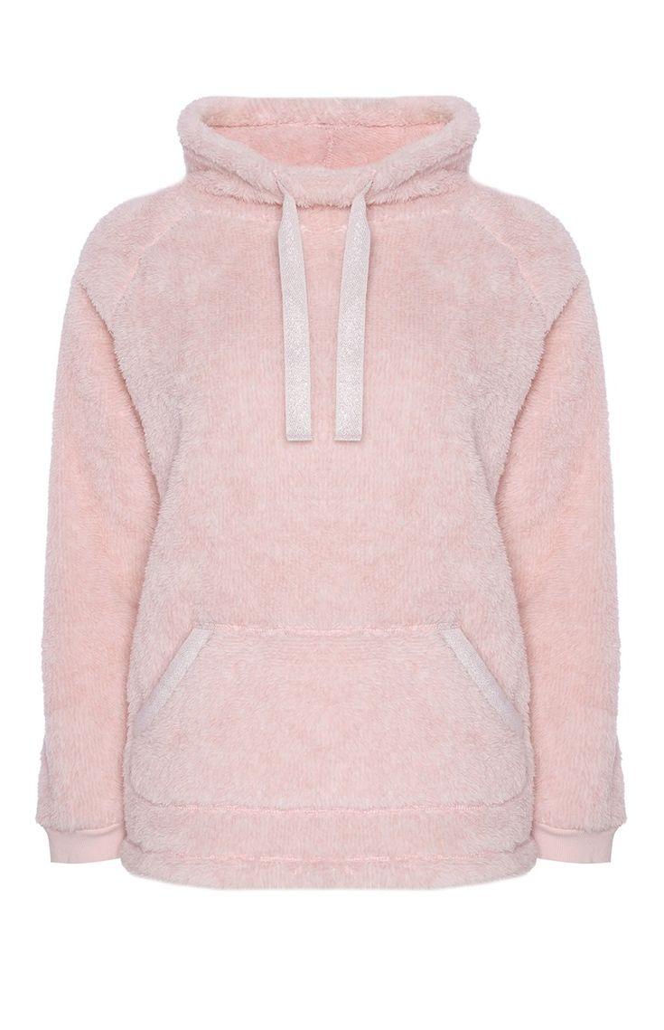 Primark - Sudadera polar rosa con capucha