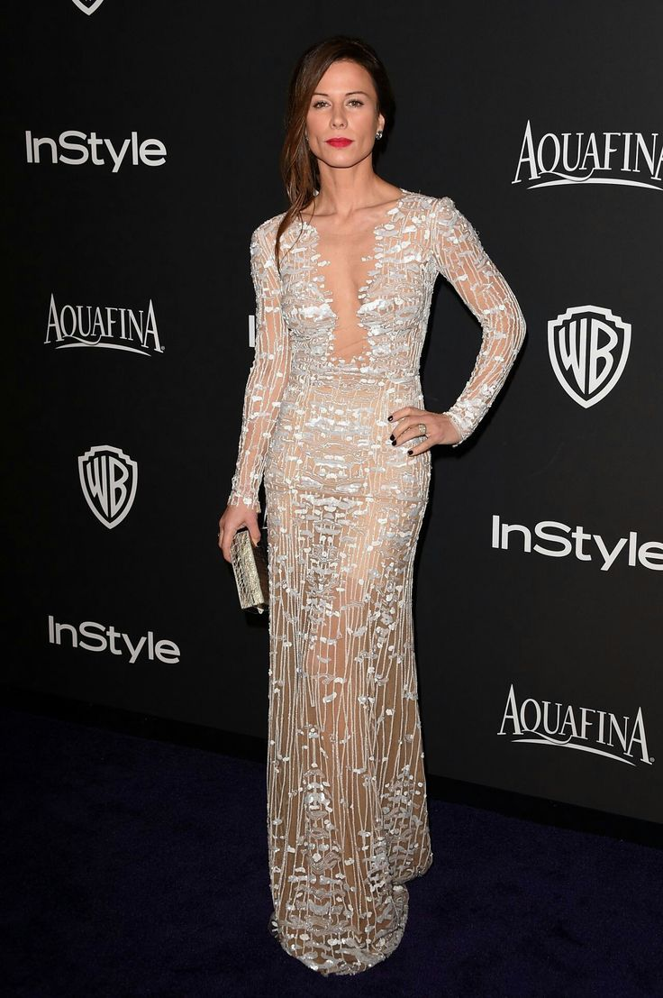 Rhona Mitra in beautiful dress