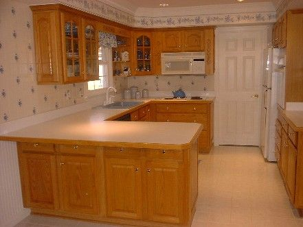 78 best images about kitchens on pinterest countertops for Builder oak countertop