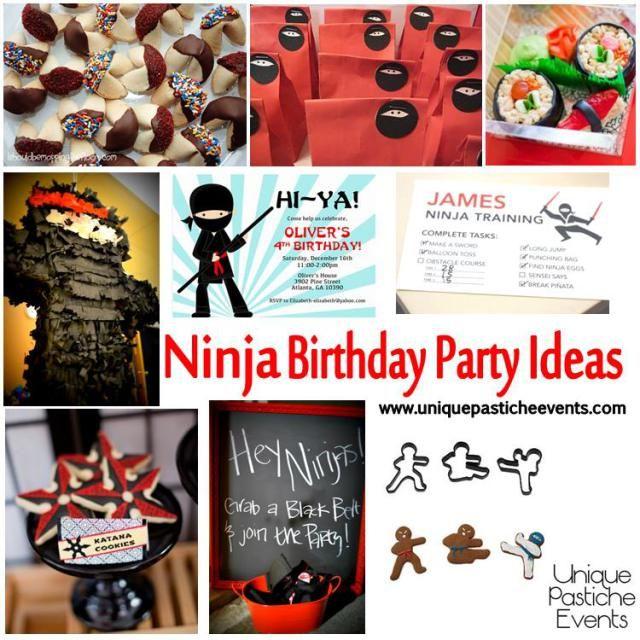 34 best Ninja Birthday Party Ideas images on Pinterest Birthdays