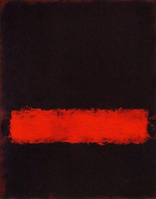 Rothko - Czarny, czerwony i czarny, 1968; ekspresjonizm abstrakcyjny, color field painting