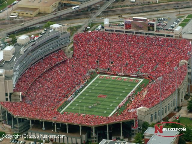 Memorial Stadium - home of the Nebraska Cornhuskers