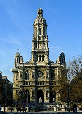 Église de la Sainte-Trinité de Paris est la première église de la Trinité en bois polychrome est édifiée en 1852 rue de Clichy