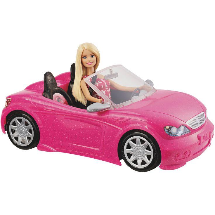 Barbie Blonde Barbie Doll & Convertible Car Set, Multicolor