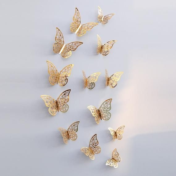 35++ Glitter butterfly wall stickers inspirations