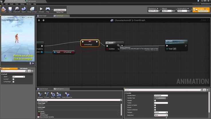23 best ue4 tuto images on pinterest third game and games introduction to third person blueprint game 19 playing our animation malvernweather Choice Image
