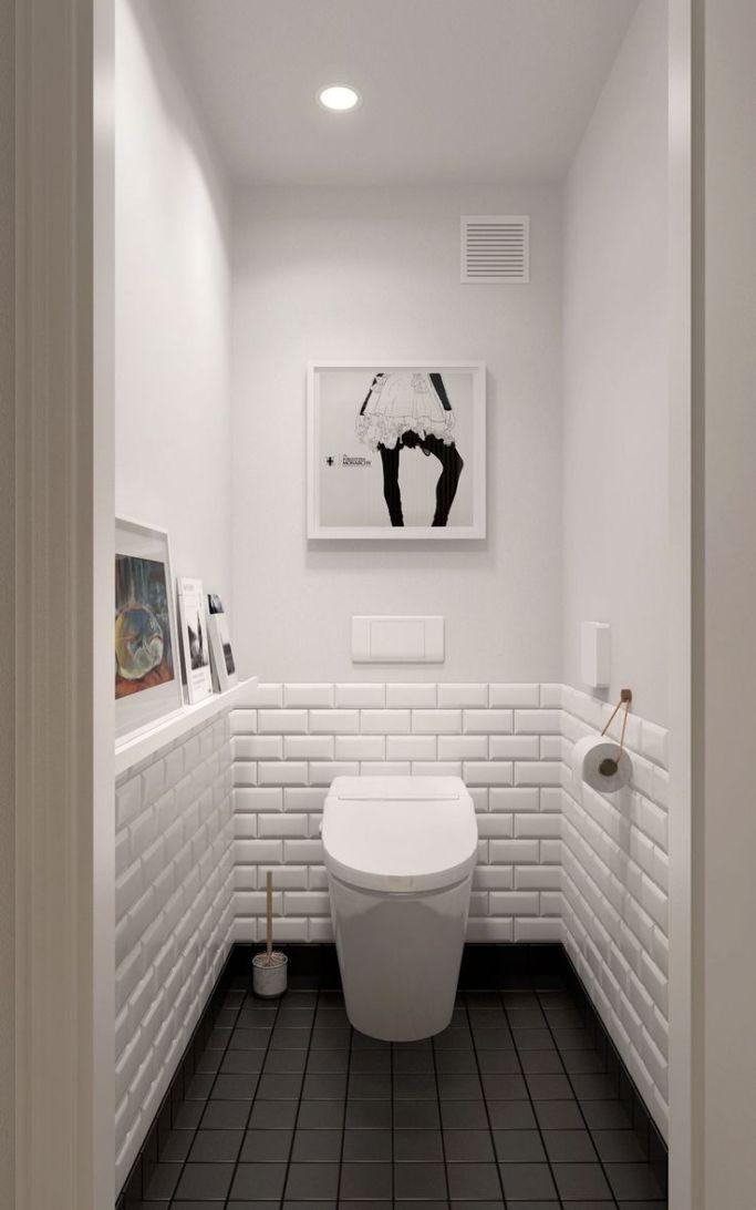 15 Beautiful Small White Bathroom Remodel Ideas Interior Remodel Small White Bathrooms Small Toilet Room Trendy Bathroom