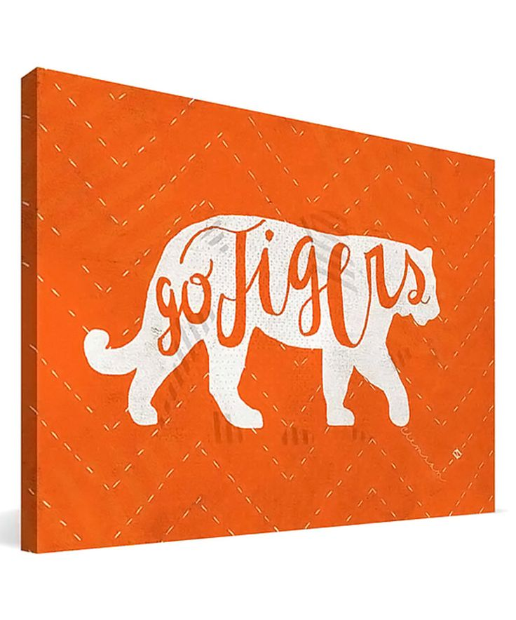 Look at this Clemson Tigers Mascot Canvas Art on #zulily today!