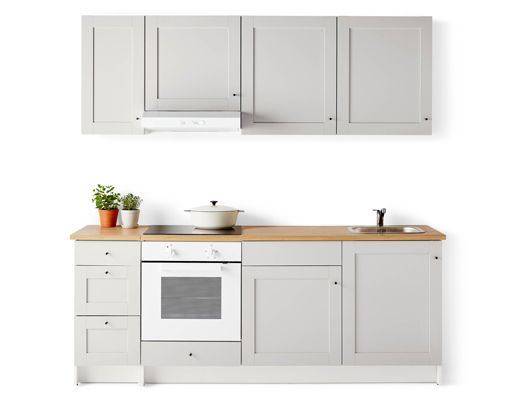 It's easy to plan, buy and assemble IKEA KNOXHULT modular kitchen units, so you can get a complete new kitchen in a day at an affordable price.