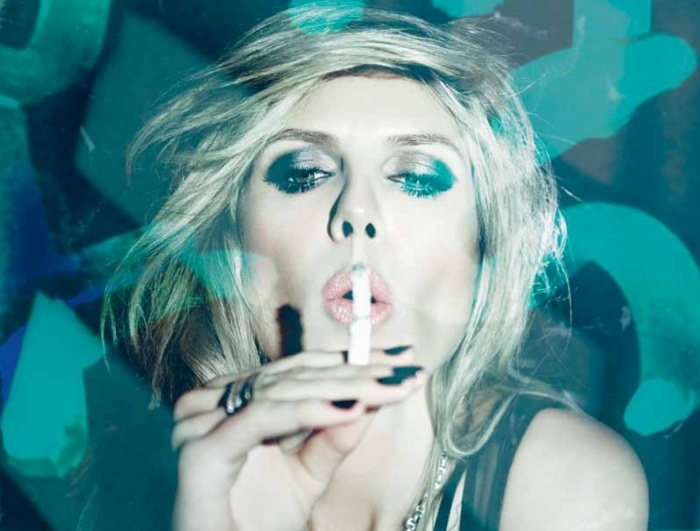Heidi Klum in 'Electric Midnight' for the journal Hunger Magazine photographed by