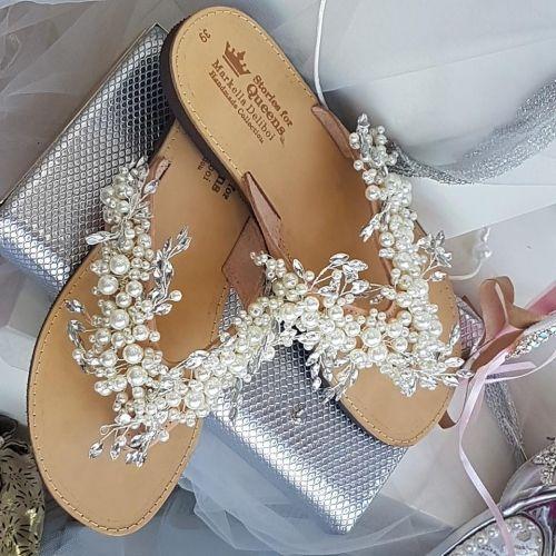 Χειροποίητα νυφικά σανδάλια.  http://handmadecollectionqueens.com/νυφικα-σανδαλια-stories-for-queens  #handmade #fashion #bridal #sandal #footwear #summer #spring #storiesforqueens #σανδαλια #χειροποιητο #υποδηματα  #νυφικο
