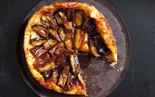 Eggplant Tarte Tatin with Black Pepper Caramel: 2000s Recipes + Menus : gourmet.com