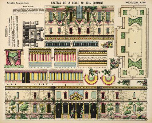 Chateau de la belle au bois dormant castle in the air online shoppe crafts paper cut outs - Chateau la belle au bois dormant ...