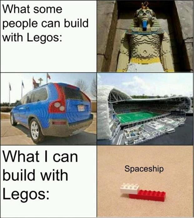 "my brother saw these pictures and said, ""man, i wish i had enough legos to build that..."" i'm pretty sure he could do it."