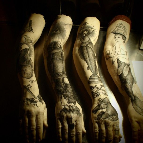 Tattooed Arms By Guy le Tatooer