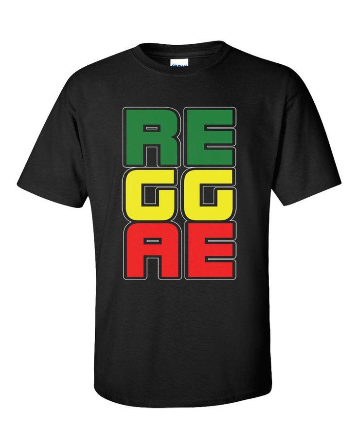 Reggae T-Shirt Jamaica Music Irie Rastafari Roots Jah Club Yaam Ragga Dancehall #Gildan #GraphicTee