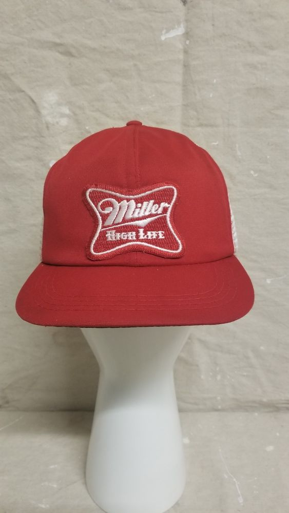 166a3902ef37d Vintage Miller High Life Beer Lite Made In USA Trucker Hat Baseball Cap  Patch  Unbranded  TruckerHat