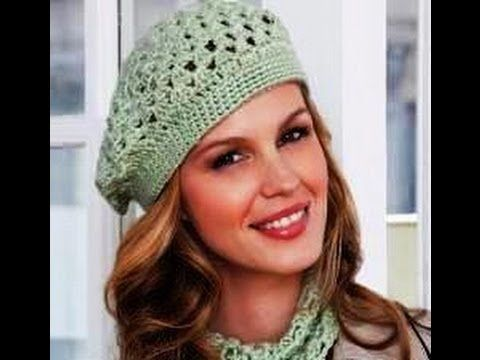 Learn to crochet this beginner level beret.  This pattern is free, courtesy of RedHeart.com,  photo belongs to redheart.com   to download written pattern and follow along please go to :  http://www.redheart.com/search/apachesolr_search/LW2741  Please visit my facebook page and become a fan.  You can post photos, interact with other group members...