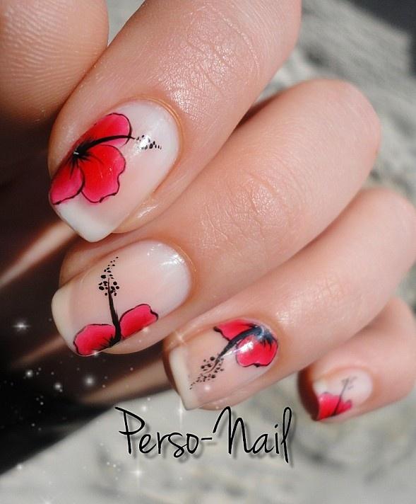 Hibiscus #nail #nails #nailart