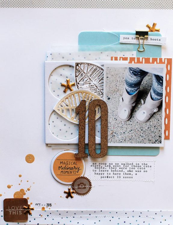 #papercrafting #scrapbook #layouts: 10 by JustMel at @studio_calico