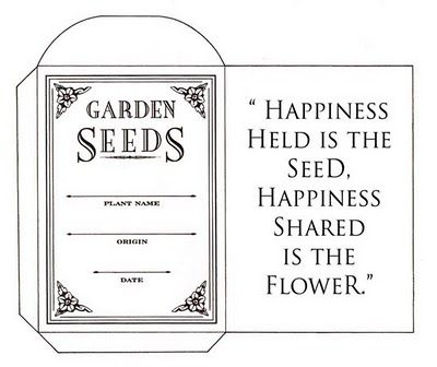 Seed packet to make for saving seeds when deadheading