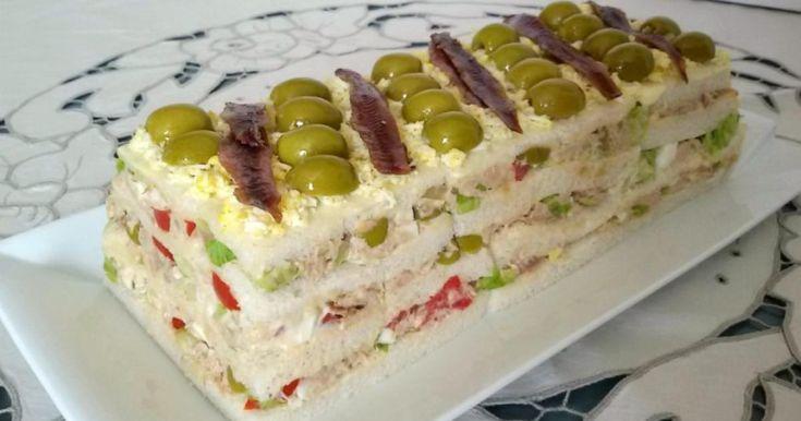 Pastel+fácil+de+atún+con+pan+de+molde