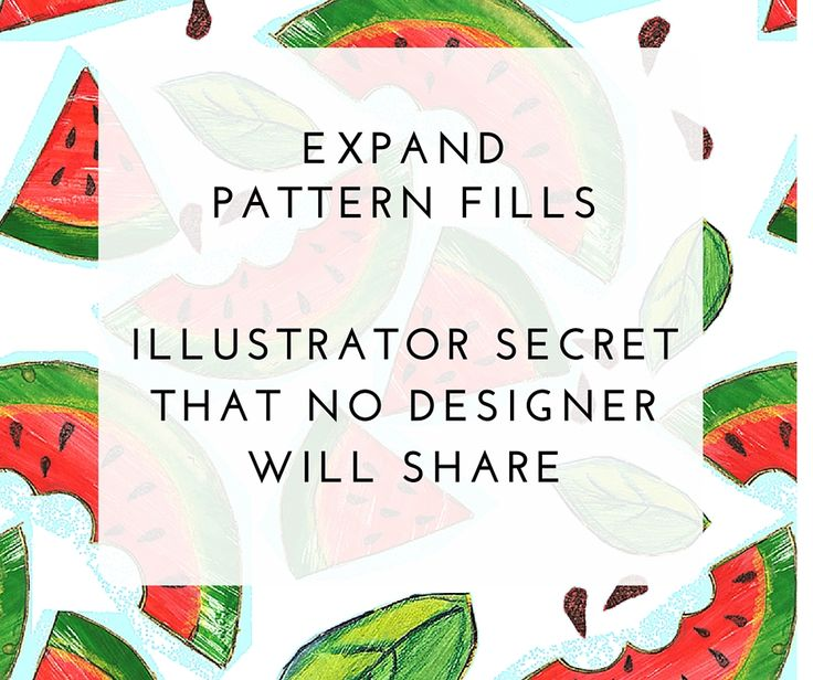 How to Expand Pattern Fills in illustrator