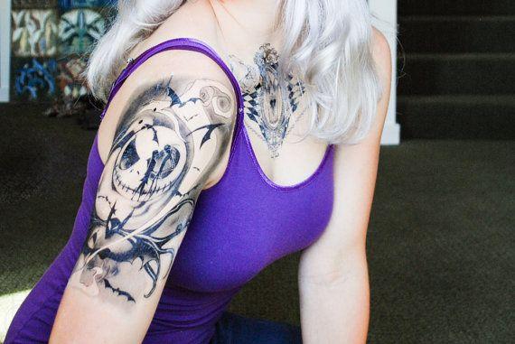 Nightmare Before Christmas Temporary Tattoo