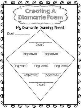 free poetry writing diamante poems mentor teachers pinterest