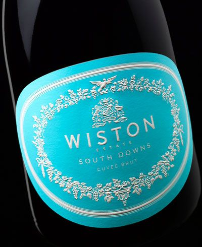The Wiston Estate Label by Stranger and Stranger actually looks like Wedgewood or Jasperware.