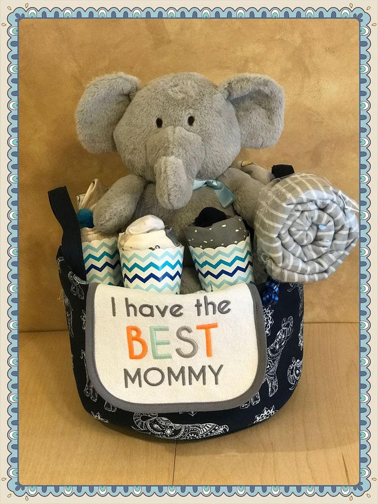 Personalized Baby Boy Baby Basket