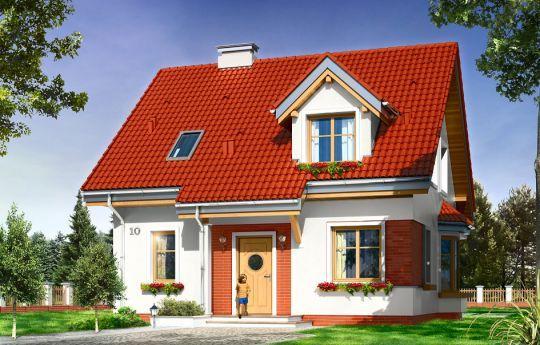 Проект дома Михалина -  это проект одноэтажного частного дома с мансардой для семьи из 4 человек.  #Проект #дома