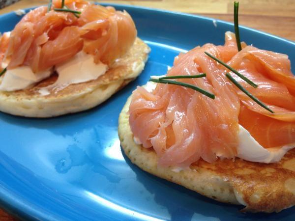 Receita de Blinis de salmão