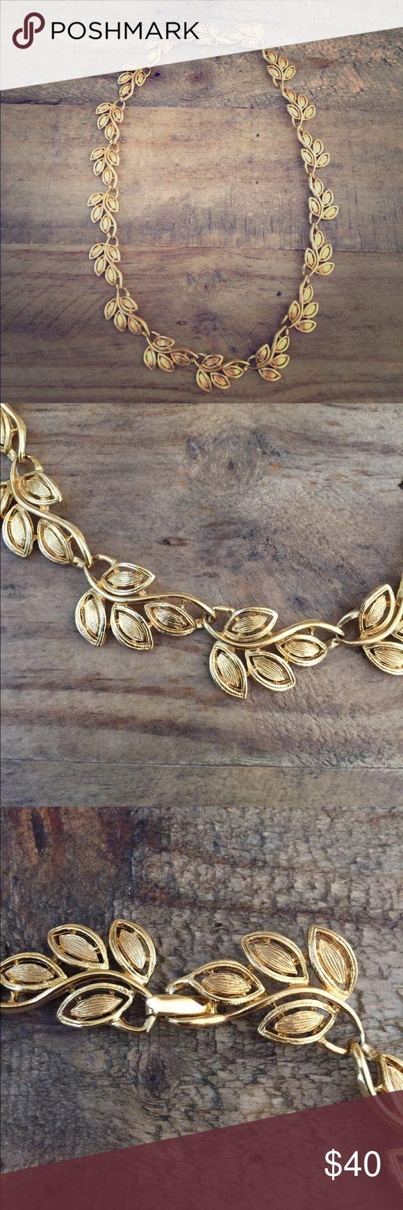 Vintage Napier Leaf Choker Statement Necklace Gently Preloved Napier Jewelry Necklaces