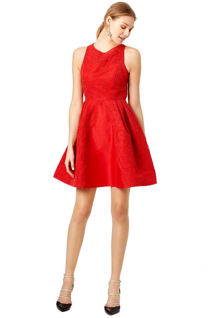 ML Monique Lhuillier Red Mark Dress