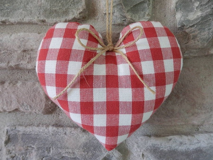 Red Gingham Heart by Country Home Designs.