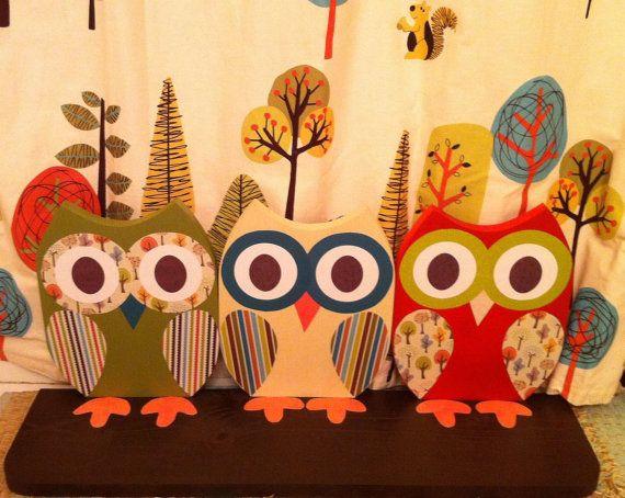 What is this?  A shelf?  Love it!Owls Shelf, Classroom Decor, Wooden Owls, Owls Bathroom, Shelves, Art Ideas, Baby, Owls Squirrels, Crafts