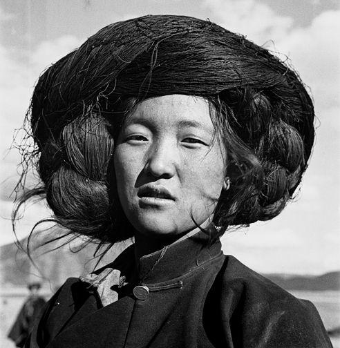 """Zhuang Xueben (1909-1984), pt. 1   THAT'S A NEGATIVE Zhuang Xueben, """"Woman of Naxi People, Yang Ming County, Yunnan Province,"""" 1934"""