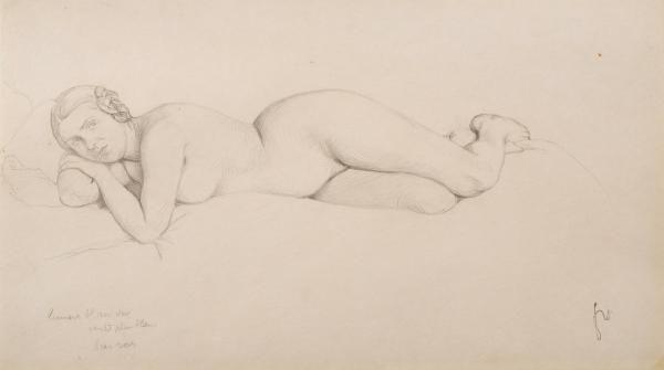 Vallotton Félix (1865–1925) - Studie zu Femme au lit - 1911 - unten rechts [...], Maîtres Anciens et 19ème siècle, Art Moderne et Contemporain, Art Suisse à Beurret & Bailly Auktionen