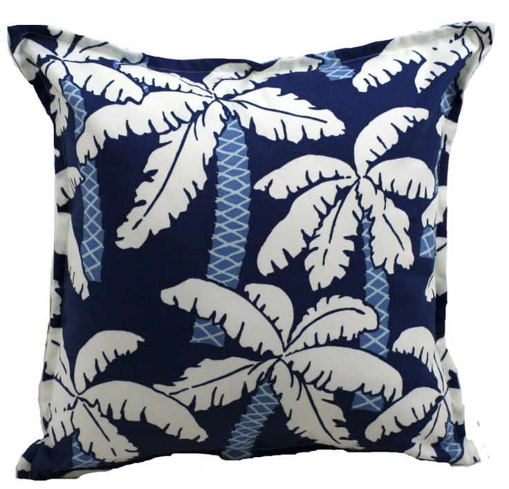 Blue Palm Trees Cushion, $52 www.bungalowliving.com.au