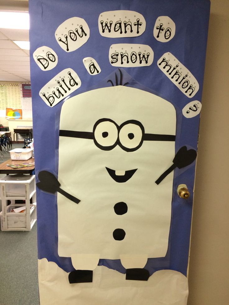 Do you want to build a snow minion? Classroom door
