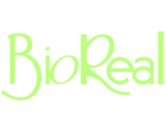 Logo para la compañía de productos a base de miel BioReal.