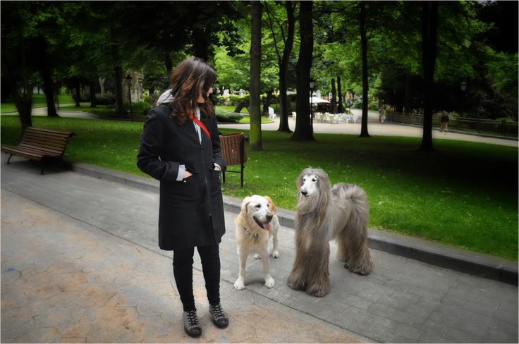 Cuper y Adur con Beatriz en el Parque de sus amores.. .el Parque San Francisco
