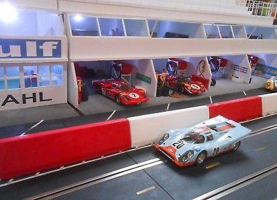 1-32-slot-car-Scenery-Jersey-Barrier-Guard-Rails-Ninco-Scalextric-Slot-It-NSR