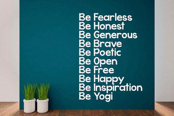 Inspirational Yoga Quote. Vinyl Quality by DesignDivilFitness